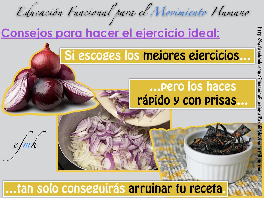 Receta del ejercicio ideal