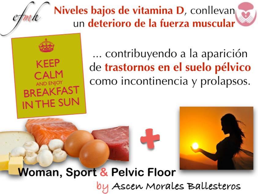 Vitamina D, fuerza y periné